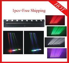 1pc 8*10W RGBW 4 in 1 Led Beam Moving Bar Flood DJ Stage Light Free Shipping