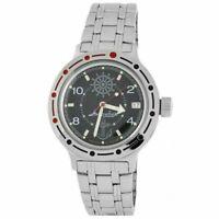 Vostok Amphibian Watch 420526 Russian Military Diver Black New