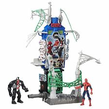 Marvel Spiderman Resa dei Conti a Web City Hasbro -Playset + 2 Personaggi 15cm-