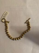 "tone beaded 8"" bracelet F152 Nwt sample Ralph Lauren satin gold"
