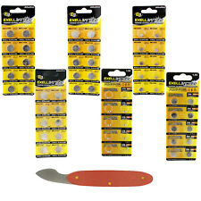 60pc Assorted Watch Battery Replacement Kit 6 Sizes 357 377 386 389 392 393