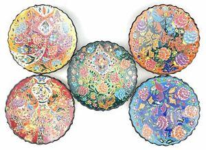 Handmade Ceramic Wall Hanging Plate(18cm) - Hand Painted Turkish Pottery