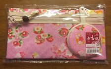 Made In Japan Sakura Cherry Blossom Hand Mirror with Pouch, NEW