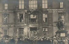 Foto AK Berlin Straßenkämpfe in Berlin Zerstörungen am Schloß 1928