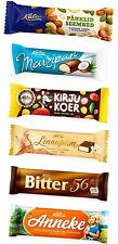 ESTONIA - LOT of 6 different Kalev chocolate marzipan souffle  bars