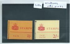 GB - STAMP BOOKLETS - 202 - 2/-d. - NR1 & NX1 - 2 booklets