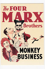 MONKEY BUSINESS THE FOUR MARX BROTHERS carte postale n° PC 8505 Harpo Chico