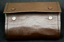 "6"" Leascot of Ayrshire leather fly Wallet with felt leaves + 18 Streamer flies"