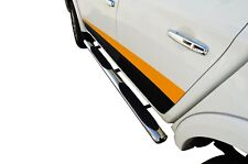 S/S 304 Running Side Step Bar Board for Mitsubishi Triton MQ 15-18 Dual Cab