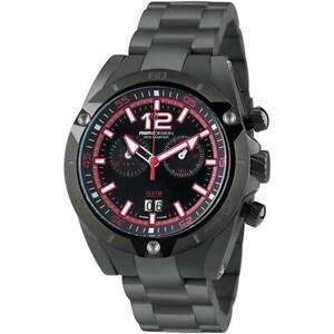 Mens Wristwatch MOMO DESIGN DIVE MASTER MD282BK-40 Chrono Stainless Steel Black
