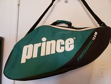 Prince Professional Team Double Racquet Bag (Green/Black) for Squash