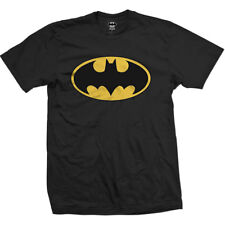 DC Comics Batman Logo Officially Licensed Black Graphics Tee Adult 2XL T-Shirt