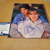 RALPH MACCHIO & ELISABETH SHUE signed autographed THE KARATE KID 8X10 photo BAS