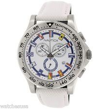 Nautica Men's White NST 600 Chronograph Flag Watch N19598G