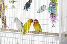 New listing Birdcage Large Flight White Perches Bird Cage Parakeets Finches Canary Enclosed