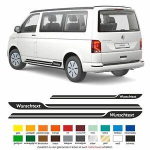 Seitenstreifen VW T6.1, T6, T5, Multivan, Bulli, Wunschtext Aufkleber