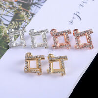 Stud Earring Women 925 Silver,Gold,Rose Gold White Sapphire Jewelry A Pair/set
