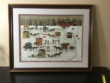 Charles Wysocki Cape Cod Cold Fish Party LE Print Hand Signed  650/1000 Framed
