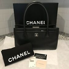 Chanel Black Cerf Small Tote Authentic
