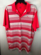 MENS PUMA GOLF POLO SHIRT SIZE M CORAL AND WHITE