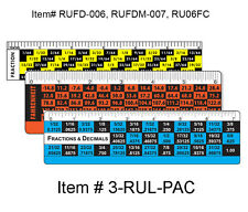 Conversion Ruler Decimals Fractions °F °C 3 pcs  #3-RUL-PAC#