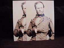 2 vintage photo postcards General Sherman Civil War