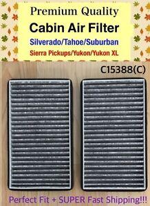 CARBON CABIN AIR FILTER For Silverado Tahoe Suburban / Sierra Yukon C15388