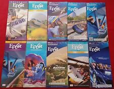 Epcot Epic Attractions - Ten Park Map Collection - Soarin, Mission Space, Nemo!