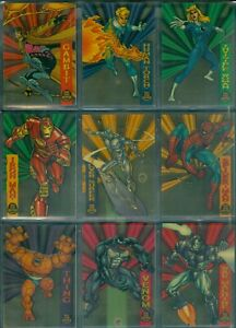 Marvel Universe 1994 10 Card Suspended Animation Clear Acetate  Insert Set