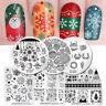 6 pcs/set BORN PRETTY Christmas Nail Stamping Plates Winter Kit Manicure