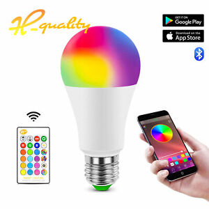 E27 LED Bulb RGBW Light Color Change Lamp Bulbs Dimmable + Remote Controller