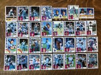 1984 KANSAS CITY ROYALS Topps COMPLETE MLB Team Set 31 Cards BRETT QUISENBERRY