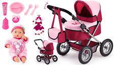 Trendy - Puppenwagen Set mit Funktions-Puppe + Zubehör 13014 + 93363AN von Bayer