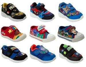 BOYS OFFICIAL BRANDED CHARACTER CASUAL WALKING TRAINERS INFANT KIDS UK SIZE 5-2