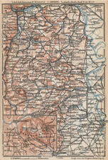 RHEINHESSEN. RHENISH HESSE. Mainz Mannheim Worms Kreuznach. Germany 1926 map