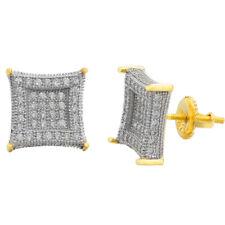 Мужские настоящие из сплошного стерлингового серебра 925 пробы и 14k золотой ледяной змей цирконий серьги-гвоздики
