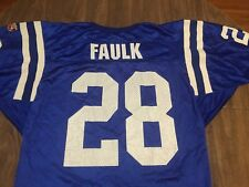 Vintage 90s Marshall Faulk Indianapolis Colts Large NFL Wilson Jersey Fits S/M