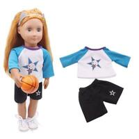 """Basketball Uniform Clothes for 18"""" American Girl Our Generation Dolls Outfit Set"""
