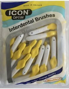 ICON Optim Interdental Brush - Yellow - 25 X Brushes  1x Pack ✅