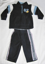 Toddler Boy's Old Navy Blue & White Fleece Winter Outfit, Size 12-18 Months