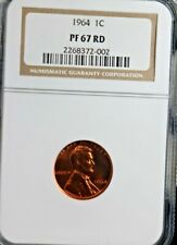 1964 1C Lincoln Cent NGC PF67 RD