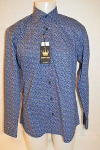 BERTIGO Man's Casual Triangle Design Shirt NEW Size Medium EU 3  Retail $180