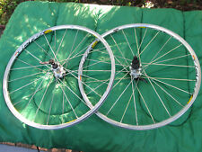 "Mavic Crossride Silver 26"" Mountain Bike MTB 6-bolts Disc F&R Wheels Wheelset"