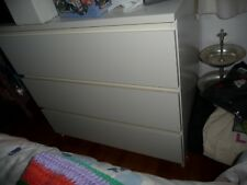 ikea MALM chest of 3 Drawers white