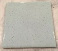 "Vintage 1950/60's Aqua Blue Green W/Speckle Ceramic 4.25 x4.25"" SINGLE WALL TILE"