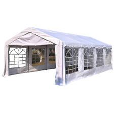 Outsunny Tonnelle de Réception Tente Chapiteau Jardin PE Anti-uv Tube Acier