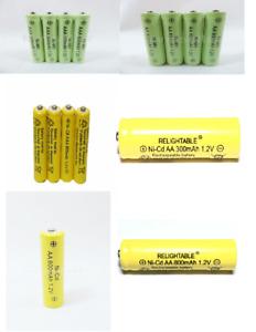 4-pcs1.2v AA(300/600/800mAh) / AAA 600mAh And Ni-Cd / Ni-MH Rechargeable Battery
