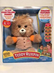 TEDDY RUXPIN 2017 ANIMATED PLUSH TALKING STORYTELLING BEAR LCD EYES USED 1X VGC!