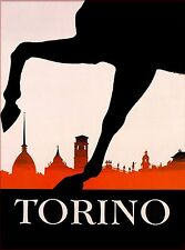 Torino Italy Horse Vintage Italian Travel Advertisement Poster Picture Print
