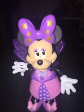 Disney Minnie Mouse With Snap On Clothes-wings-bow - Dress And Shoes